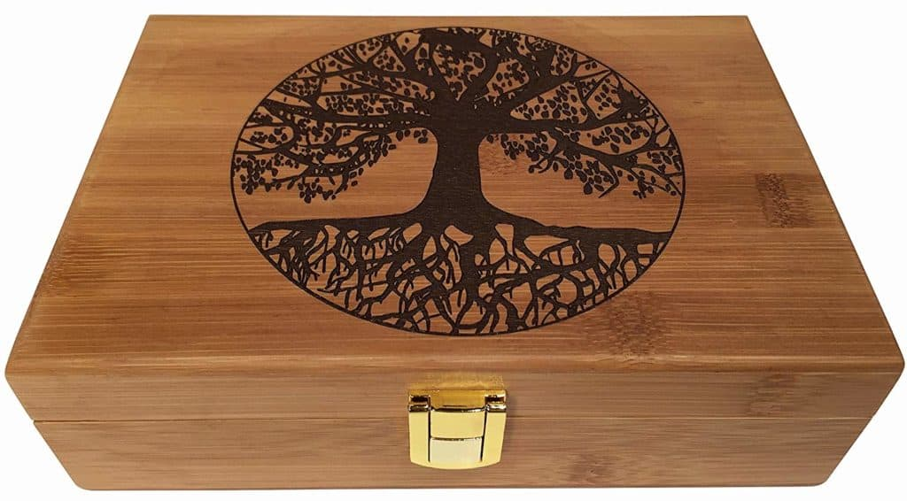 Image of a wooden box a perfect gift for a 5th wedding anniversary