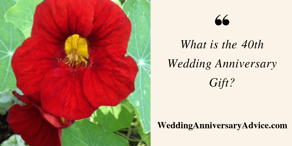what is the 40th wedding anniversary