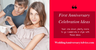 First Anniversary Celebration Ideas
