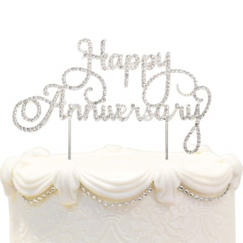 wedding anniversary gifts for couples - cake toppers