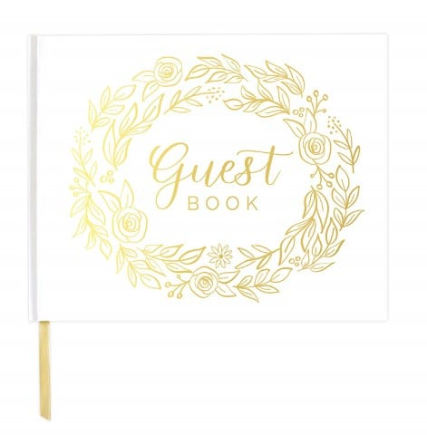 wedding anniversary party guest book